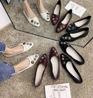 รองเท้าคัชชูส้นเตี้ยหัวแหลมนำเข้า SLL-6237