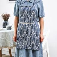 圍裙 北歐廚師圍裙無袖男女廚房做飯圍腰家居半身圍裙短服務員工作圍裙『LM2721』