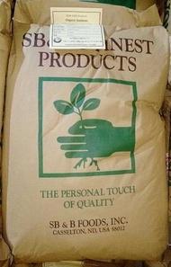 美國SB&B有機黃豆-高發芽/高蛋白--原廠整袋30公斤,免運費