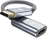 DisplayPort to HDMI Adapter【2 Pack】, Capshi 4K DP Display Port to HDMI Converter Male to Female Gold-Plated DP to HDMI Adapter Compatible with HP, HDTV, ThinkPad, Monitor, Projector, Desktop- Grey