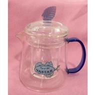 飛騰VASTAR小巧精緻 玻璃壺(藍葉系列)享午茶時光