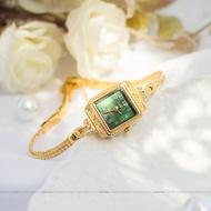 Agete Exquisite Light Vintage Thin Belt Gold Chain Watch Female Retro Art