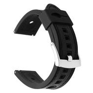 หนังแท้ + สายนาฬิกาข้อมือยางซิลิโคน22มม.สำหรับ Casio Seiko Citizen Fossil Nixon สายนาฬิกาข้อมือสแตนเลสหัวเข็มขัดเหล็กสายคล้อง