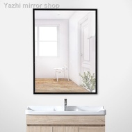 Aluminum frame bathroom mirror, dressing stickers, wall hanging makeup decoration mirror