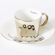 Luycho 韓國 鏡面倒影杯 咖啡杯 _ 企鵝