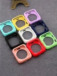 สำหรับ Apple Watch กรณี44มม.40มม.IWatch 42มม.38มม.อุปกรณ์เสริมซิลิโคนกันชนกันชนหน้าจอ Applewatch ชุด6 5 4 3 SE