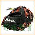 WILSON 兒童手套 A200 馬林魚 黑橘 WTA02RB16FLA