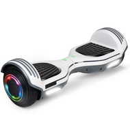 """SISIGAD Hoverboard Self Balancing Scooter 6.5"""" Two-Wheel Self Balancing Hoverboard with Bluetooth Speaker Electric Scooter for Adult Kids Gift UL 2272 Certified 138A Series - White"""