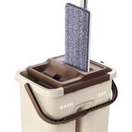 178shop [1個桶+1個拖把+2塊布] 三合一平板拖地組 刮刮樂 乾濕兩用雙槽平板拖把 創新雙槽懶人免手洗平面拖把