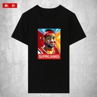 勒布朗·詹姆斯 LeBron James籃球短袖T恤男女純棉潮流衣服衫運動