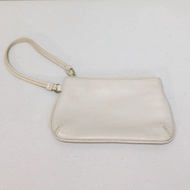 全新 美國品牌 ENZO ANGIOLINI 真皮 白色 化妝包 收納包 手拿包 小包(NINE WEST副牌)