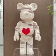 Ready STOCK 🇲🇾 Lego Bearbrick Micro Particle Building Blocks With light Lego Love