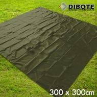 迪伯特DIBOTE 銀膠防水地墊/野餐墊/帳篷底布 (300x300) -綠 -快速到貨