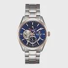 【BENTLEY賓利】活力動芯系列 精緻品味機械錶 (藍/玫瑰金銀 BL1831-15MTNI-R)