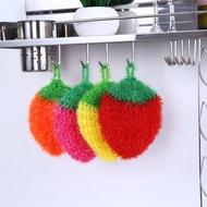 ★限時促銷★韓國創意亞克力三片葉加厚草莓洗碗巾滌綸絲清潔布百潔布洗碗布