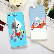 Fashion BTS Korean Style Cute BT21 TPU Phone Case for IPhone 5 5S SE 6 6S 6Plus 7 7Plus 8 8Plus X XS XR XS MAX and Samsung Note8 Note9