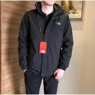 The North Face 兩件套男款衝鋒衣時尚防水防風衝鋒衣 XL-4XL