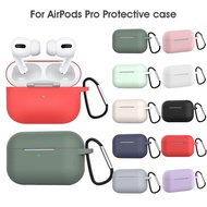 Earphone Case For Apple Airpods Pro Case Silicone Cover For Apple Air Pods Pro 3 Headphone Earpods Earbuds Hook Charging Box