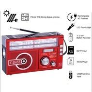 Solar Radio with LED light Rechargeable FM/AM Radio Speaker