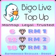 [BIGO ID only] 12 diamonds - BIGO TOPUP - OFFICIAL TOP UP BIGO CHEAPEST - TOPUP BIGO DIAMONDS