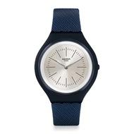 【SWATCH】SKIN超薄系列手錶 SKIN SAPHIRA 礦物深藍(40mm)