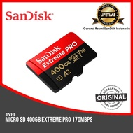 SanDisk Extreme PRO Micro SD UHS-I Card 400GB up to 170Mbps Original Official Guarantee