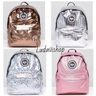 Hype bag backpack 上課包 潮流包 金 銀 粉 後背包