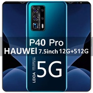 Infinix 2021 โทรศัพท์มือถือราคาถูก HAUWEI 2021 P40 Pro / S20mini สมาร์ทโฟน Android 7.5 / 5.5 นิ้วหน้าจอ HD 8 + 256GB / 4 + 64GB รองรับเครือข่าย Google WiFi 4G 5G แบบสองซิม