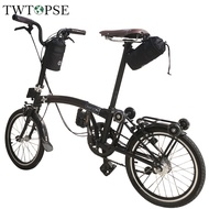 TWTOPSE British Flag Folding Bike Bag For Brompton 3SIXTY Birdy Fnhon SP8 DAHON Water Resistant 1050D Handlebar Bicycle Bag Cycling Saddle Rear Bags Accessories