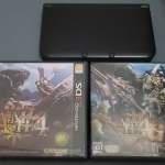 3DSLL 日版 連2隻遊戲(MH4,MH4G)