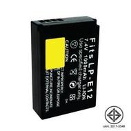 แบตเตอรี่กล้อง Canon ยี่ห้อ SPA Battery รหัส LP-E12 Replacement Battery ใช้กับ Canon D-SLR EOS 100D  EOS M  EOS M2  EOS M10  EOS M50