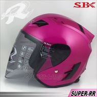 SBK R帽|23番 SBK SUPER-RR 桃紅 3/4罩 半罩 安全帽 雙D扣 強化耐磨 快拆鏡片 內襯可拆