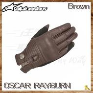~任我行騎士部品~Alpinestars OSCAR RAYBURN 棕色 復古 皮革 羊皮 手套 哈雷 復古車 A星