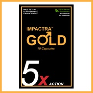 Impactra Gold (10 Capsules) | 100% Natural Male Sexual Enhancement | Tongkat Ali | 5 Days Long Action Per Capsule