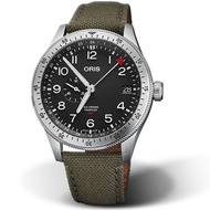 ORIS 豪利時 BIG CROWN PROPILOT雙時區手錶 74877564064-0732202LC