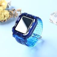 ใช้ IWatch6สายนาฬิกาฝาครอบป้องกันสายนาฬิกาข้อมือ Applewatch/4/3/2รุ่นป้องกันกรณีใหม่44/42Mm SE ซิลิโคน40/38ชุด S6 Ice