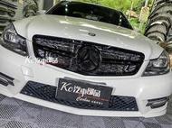 [現貨] Kc汽車部品 BENZ 賓士 W204 [C63] [全亮黑] 一線星 水箱罩 C250 C300