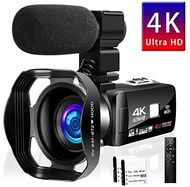 Camcorder Video Camera 4K 48MP 16X Video Camera WiFi YouTube