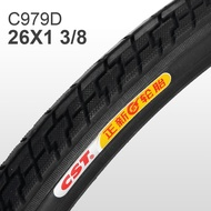CST Zhengxin Bicycle Outer Tire 26*1 3/8 Tire Bicycle Inner and Outer Tire Set 26-Inch Mountain Bike Tire