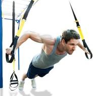 QNIGLO ยางยืดออกกำลัง เชือกแรงต้าน เชือกดึงออกกำลังกาย ยางยืดออกกำลัง ยางยืดออกกำลังกาย Training Suspension ยางยืด ออกกำลังกาย พร้อมมือจับ และ ผ้าหุ้มเชือก
