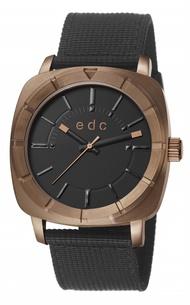 EDC Esprit Watch Modern Rough Mens Brown Nylon Strap EEE101291003