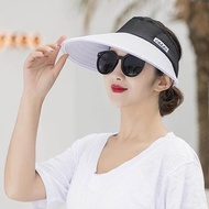 New Summer Sun Visor Ladies Outdoor Folding Large UV Protection Top Hat Six Colors/One Size