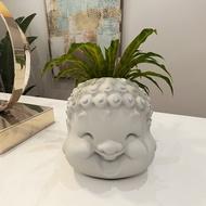 Head Cement Flower Pot
