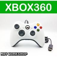 副廠 / XBOX360 PC 有線 振動 手把 控制器 白色 全新品 / 支援 Steam / MAY