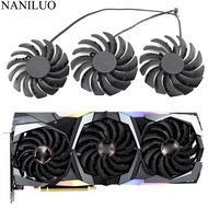 PLD09210B12HH PLD10010B12HH RTX 2080 กราฟิก Cooler พัดลมสำหรับ MSI GeForce RTX 2080 2080Ti 2070 Super GAMING X Trio การ์ดพัดลม