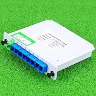 Fiber Optic Module   1x8 PLC Fiber Optic Splitter Inserting Module SC/UPC Connector Ports 1:8 Fiber Optical Splitter
