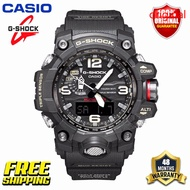 Original G Shock MUDMASTER Men Sport Watch GWG1000 Dual Time Display 200M Water Resistant Shockproof and Waterproof World Time LED Auto Light Sports Wrist Watches with 4 Years Warranty GWG-1000-1A (Ready Stock and Free Shipping)