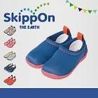 【日本SkippOn】「ISEAL VU系列」兒童休閒機能鞋〈粉底普魯士藍 〉13粉底普魯士藍