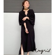 Ungrid 棉質V領寬袖洋裝(3色)