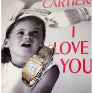 Cartier 18k金X不銹剛 自動上錬 Santos 女錶